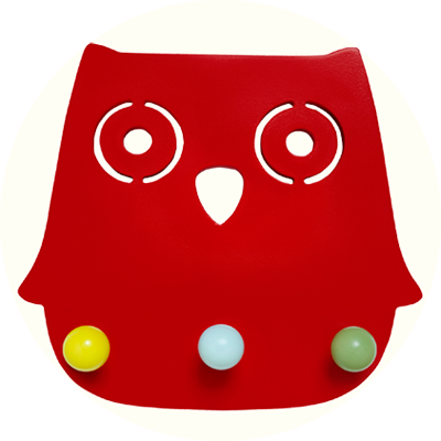 Franck & Fischer Ofelia Red Owl Coat rack