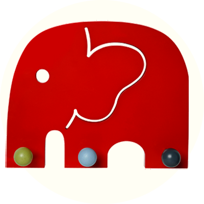 Franck & Fischer Oscar Red Elephant coat rack
