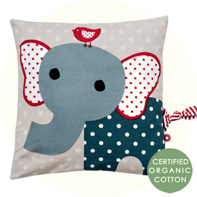 Franck & Fischer Simon Elephant blue cushion