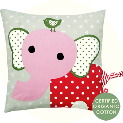 Franck & Fischer Simon Elephant pink cushion