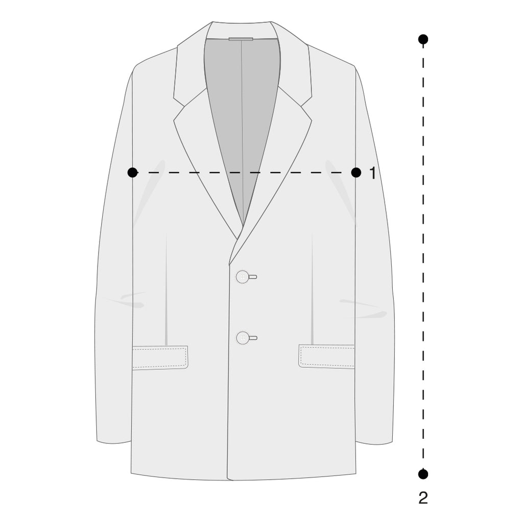 Mens Peacoats Size Guide