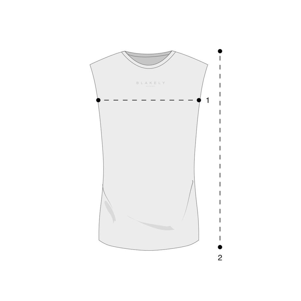 Sleeveless Tees Size Guide