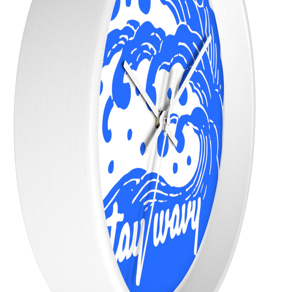Stay Wavy Wall clock