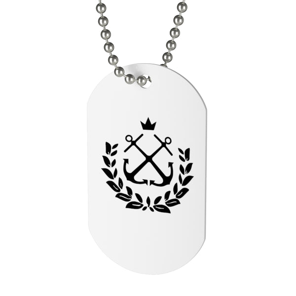 Wreath Dog Tag Necklace