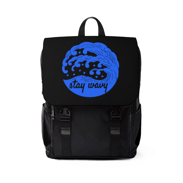 Wavy Shoulder Backpack