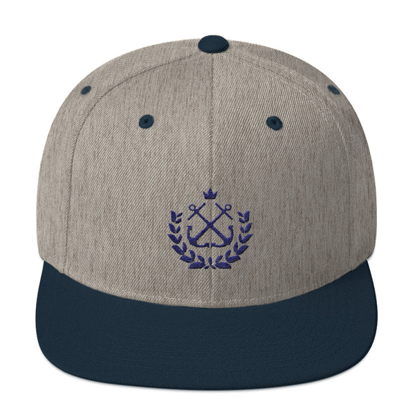 Wreath TT Navy Snapback