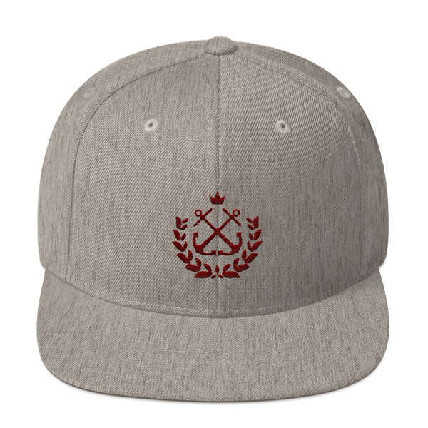 Heather Maroon Wreath Snapback