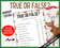 Reindeer Fact or Fiction Game