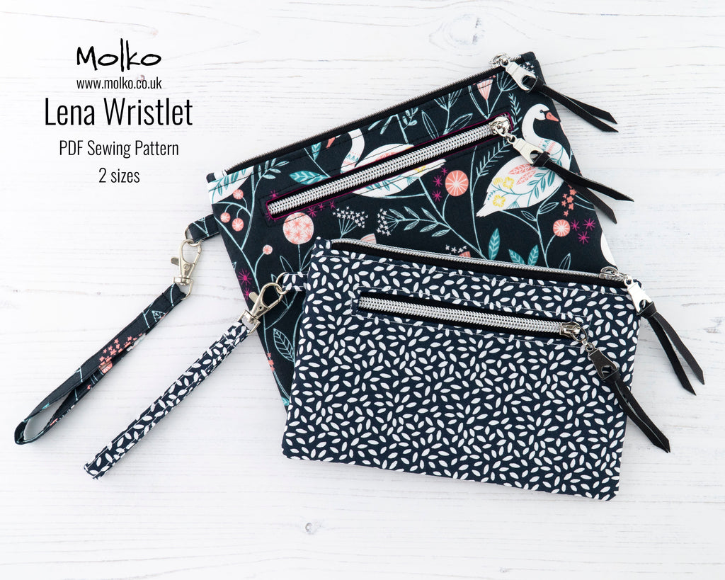 Lena Wristlet PDF Sewing Pattern and Sewing Tutorial