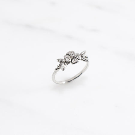 Flora ring - silver