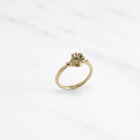 Aster crown ring - brass