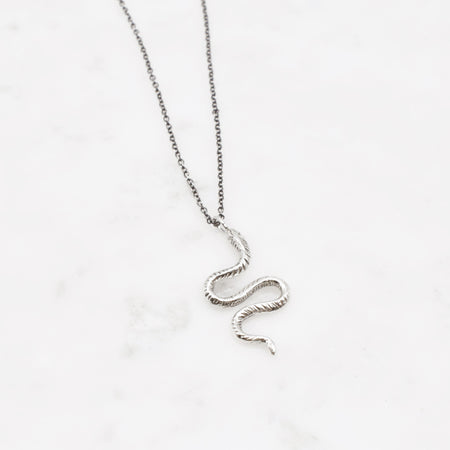Winding Snake necklace - silver