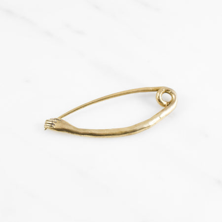 Hand Safety Pin - brass