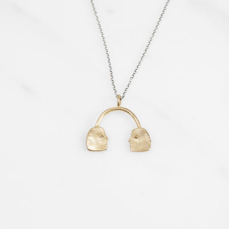 Conversation necklace - brass