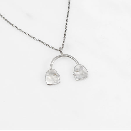 Conversation necklace - silver