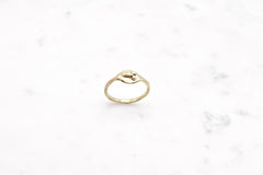 Tiny D ring - brass