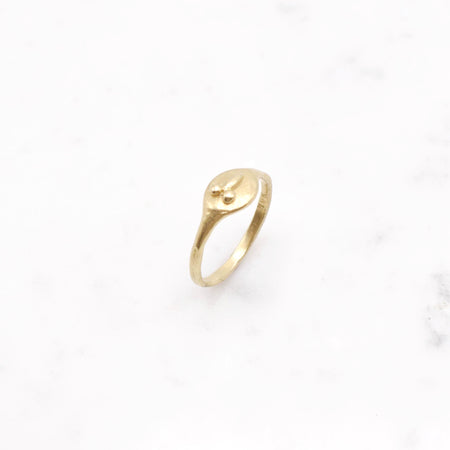 Tiny D ring - 14k Gold