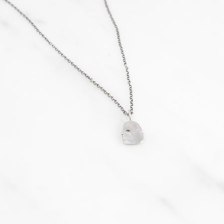 Profile necklace - silver