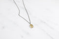 Profile necklace - brass