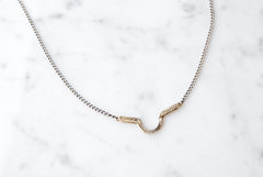 Arch necklace - brass on silver