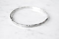 Hatch bangle - silver