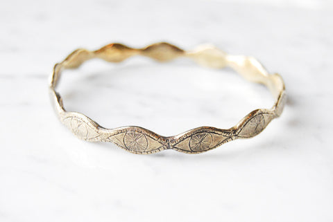 Watchful eye bangle - brass