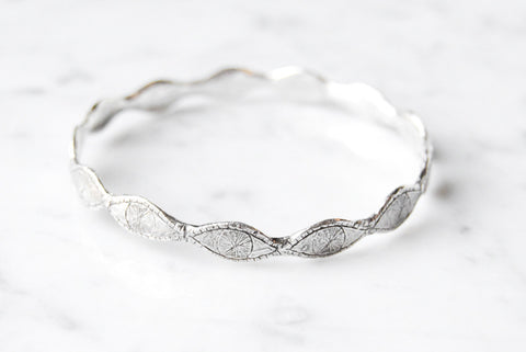 Watchful eye bangle - silver