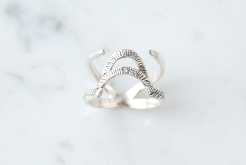 Arch & Needles ring - silver