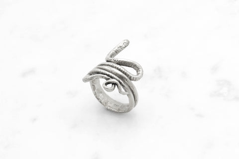 Snake Coil ring - silver