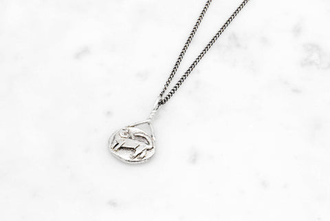 Cat Cameo necklace - silver