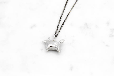 Dog Amulet necklace - silver