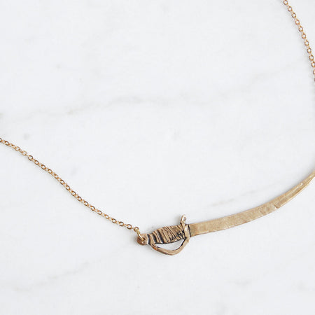Sword necklace - brass