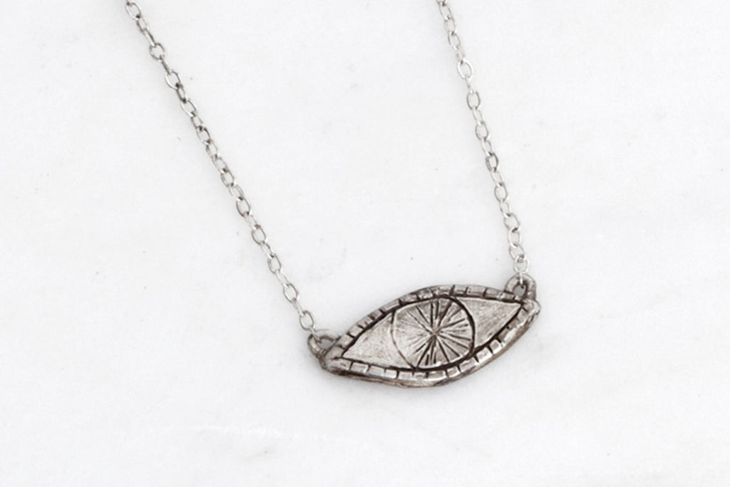 Watchful Eye necklace - silver