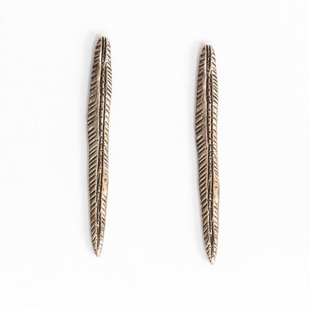 Spear earrings - brass