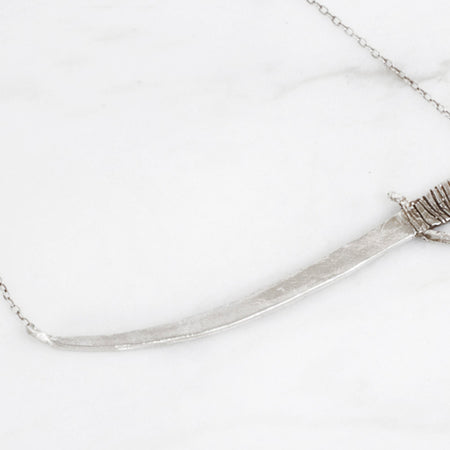 Sword necklace - silver