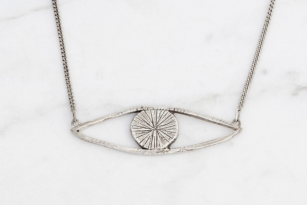 Eye talisman necklace - silver