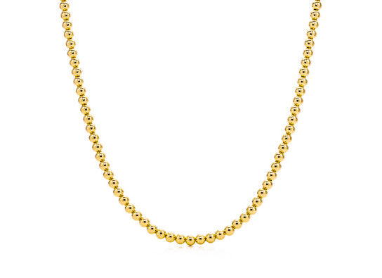 14k Gold Bead Necklace - 5mm