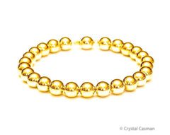 14k Gold Bead Bracelet - 8mm - Women's Bracelet