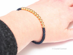 Sapphire 14k Gold Bead Bracelet - Women and Men's Bracelet