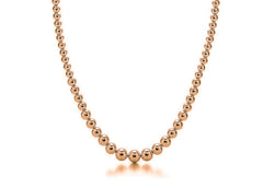 Graduated 14k Rose Gold Bead Necklace