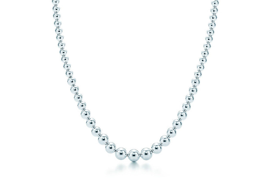 Graduated Silver Bead Necklace