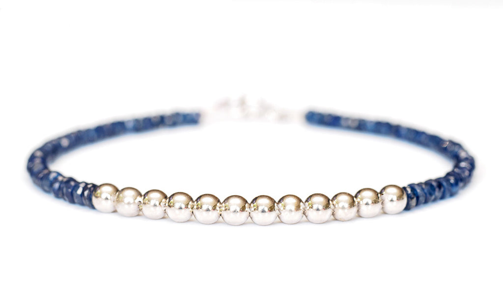 Sapphire Bracelet in 14k White Gold - Women's and Men's Bracelet