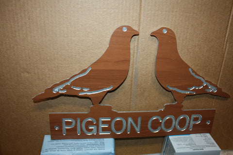 Beautiful Pigeon Sign