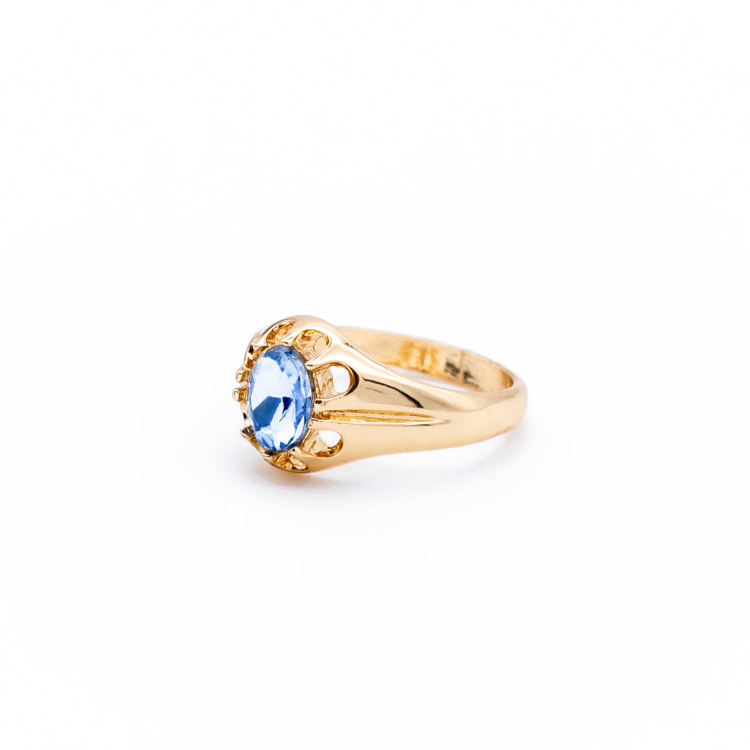 Blue Stone Band Ring