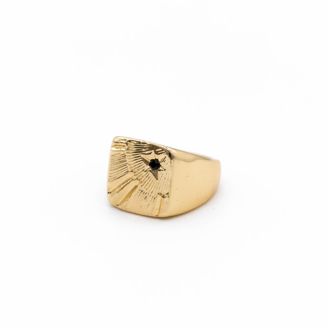 Stone Square Signet Ring