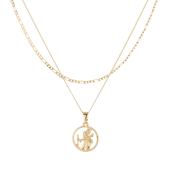 St Christopher Cut Out Medallion Figaro Layer