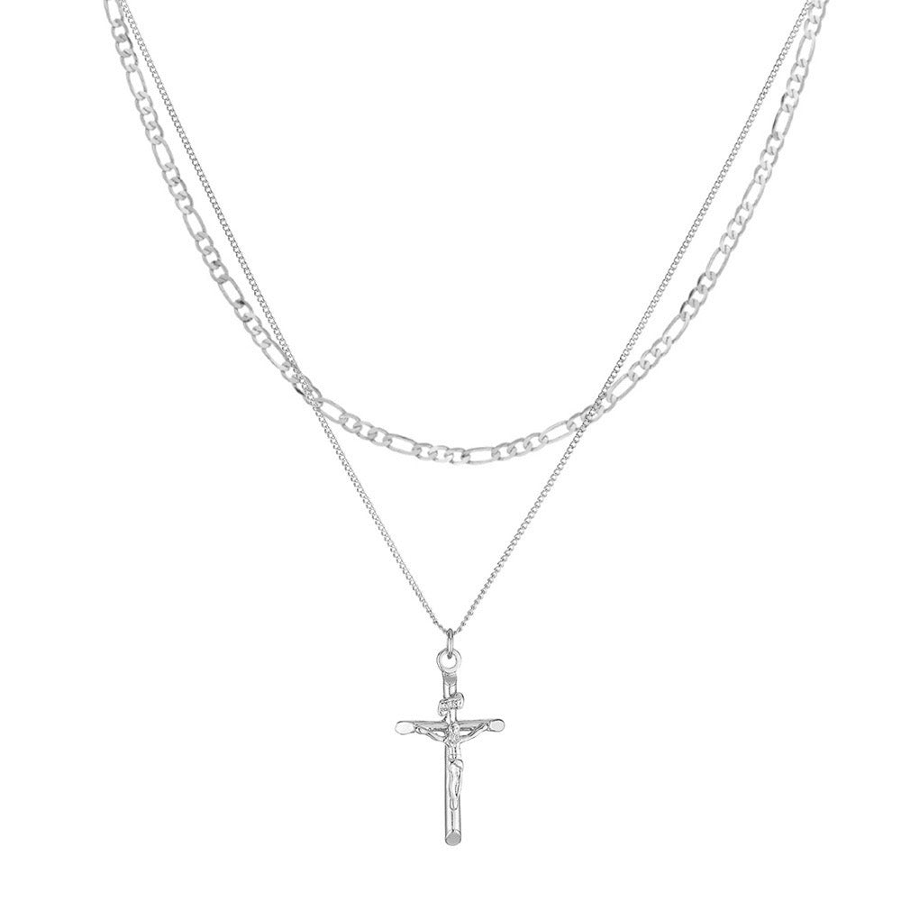 Mini Crucifix Figaro Layer