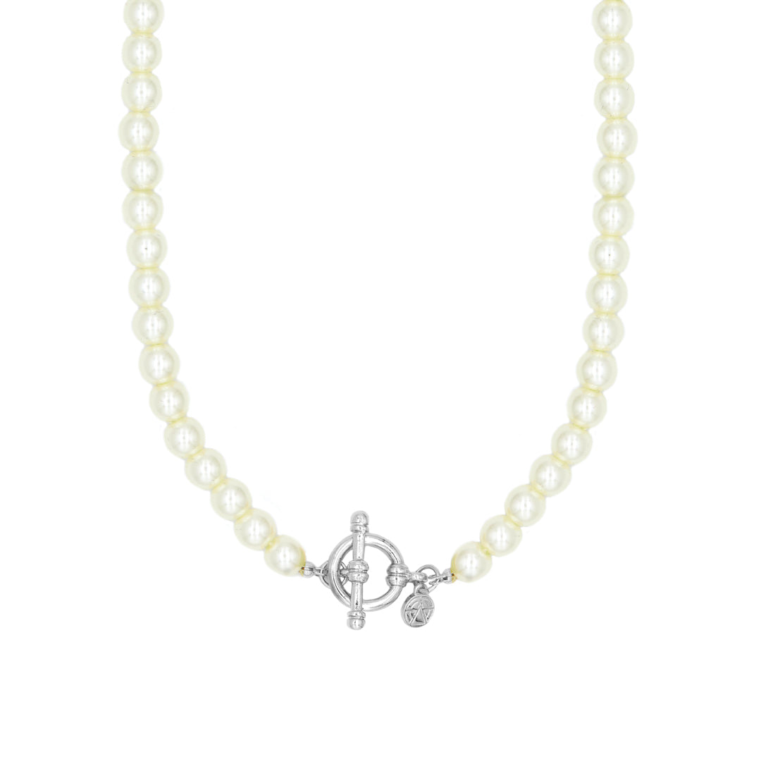 Pearl T-Bar Necklace