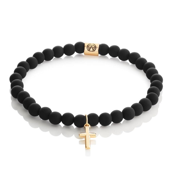 Cross Slim Beaded Bracelet