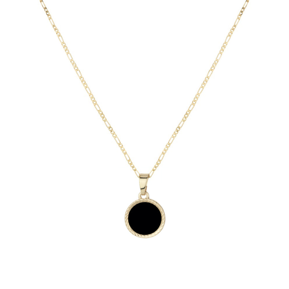 Mini Onyx Figaro Medallion